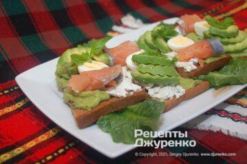 Фото рецепта бутерброды с авокадо