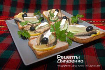 Фото рецепта бутерброды со шпротами