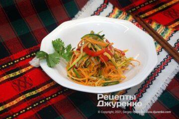 Фото рецепта кабачки по-корейськи