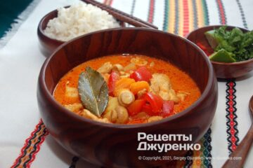 Фото рецепта блюдо карри