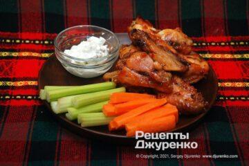 Фото рецепта крылышки баффало