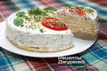 Фото рецепта кабачковый торт
