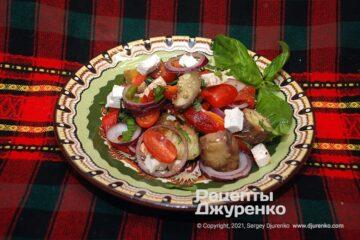Фото рецепта салат з запечених овочів