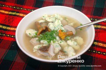 Фото рецепта суп с клецками