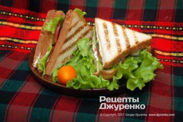 Фото рецепта сендвіч з куркою