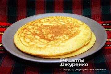 Фото рецепта перепічки з кукурудзяного борошна